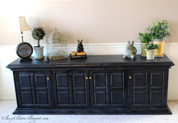 Superbe Classic Black Console Makeover