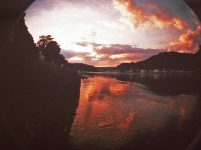 Loreley Rhein Urlaub Sommer Depression Nachdenkliches Antidepressiva Lomografie Fisheye