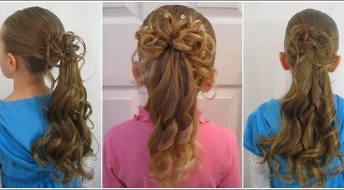 Foto Gaya Rambut Anak Perempuan Potongan Lucu