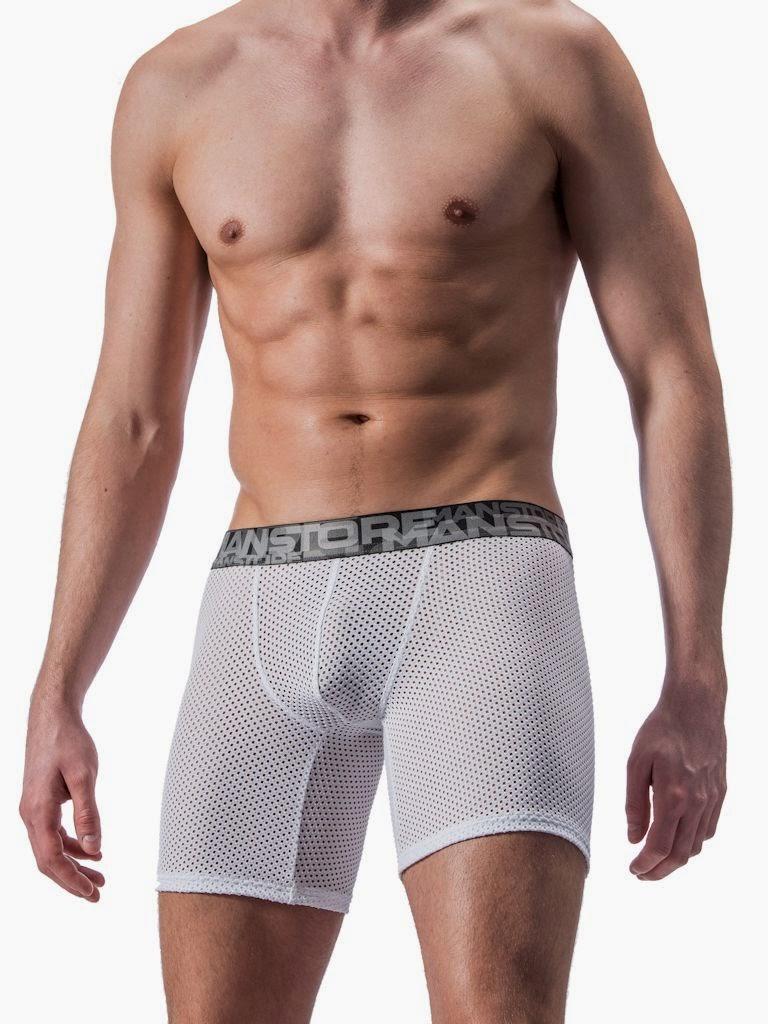 Manstore Soccer Trunks Underwear White Gayrado