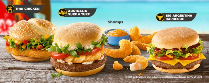 Turf N Surf >> Around the World: McDonald's UK and Germany - Tastes of the World | Brand Eating
