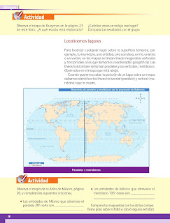Apoyo Primaria Geografía 4to grado Bloque I lección 3 Los mapas hablan de México