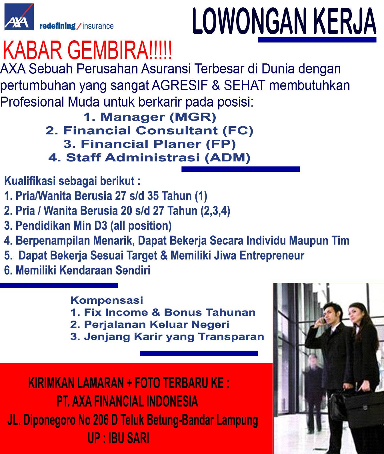 Bursa Kerja AXA Lampung