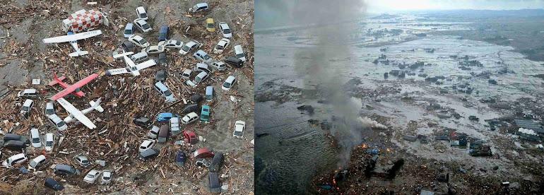 4)Разрушительные последствия наката и отката цунами.