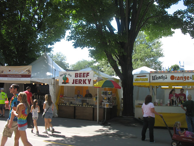 Heidi Jo's Beef Jerky Stand at the Fair