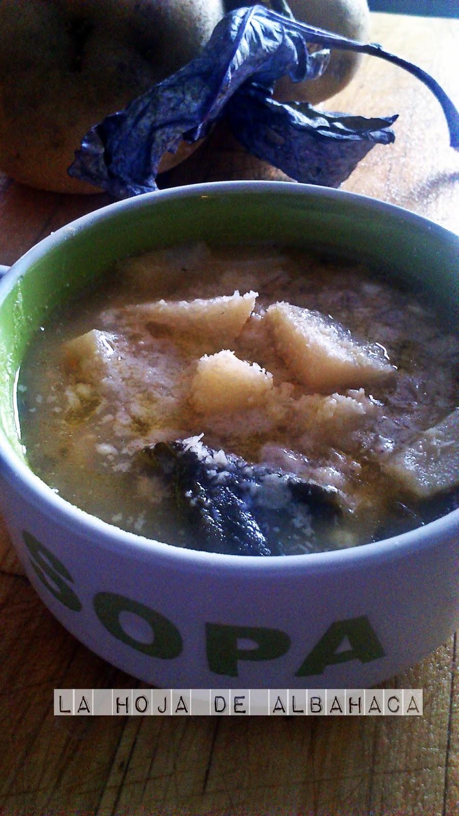 guiso colinabo , hoja de colinabo,cebada y patatas