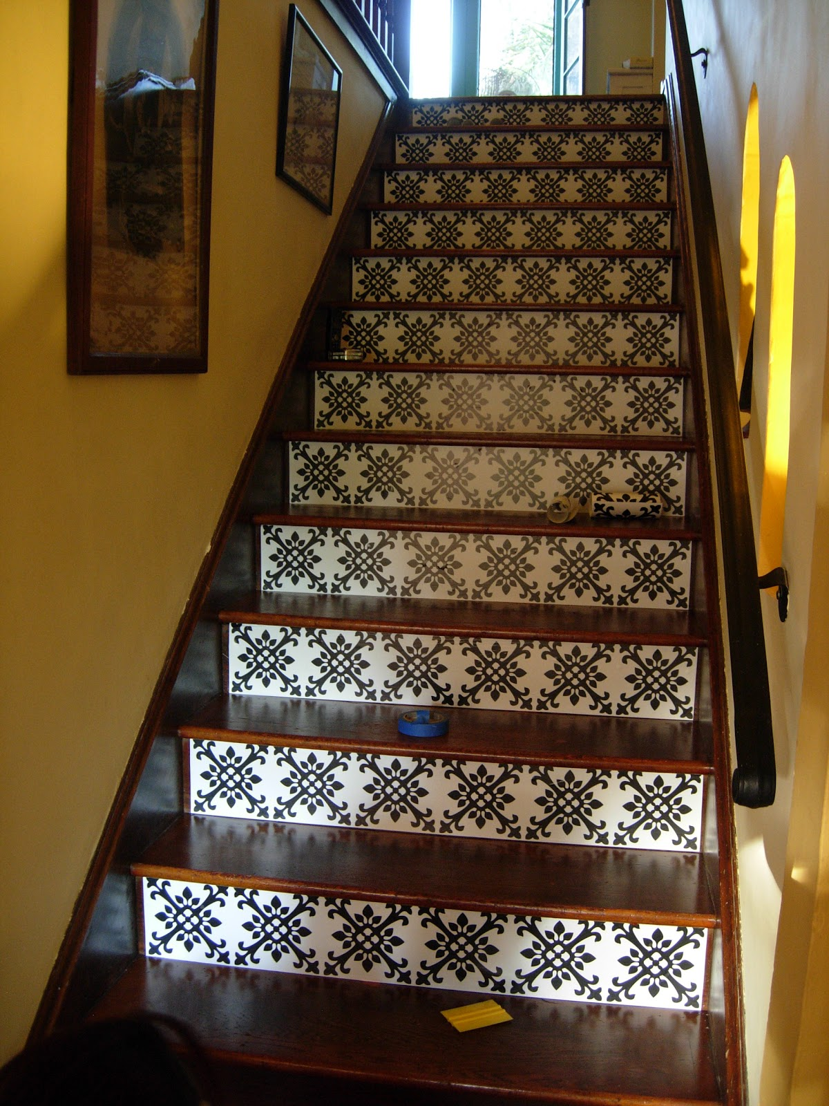 Brandy spears floral designer staircase redo in the for Ideas for redoing stairs