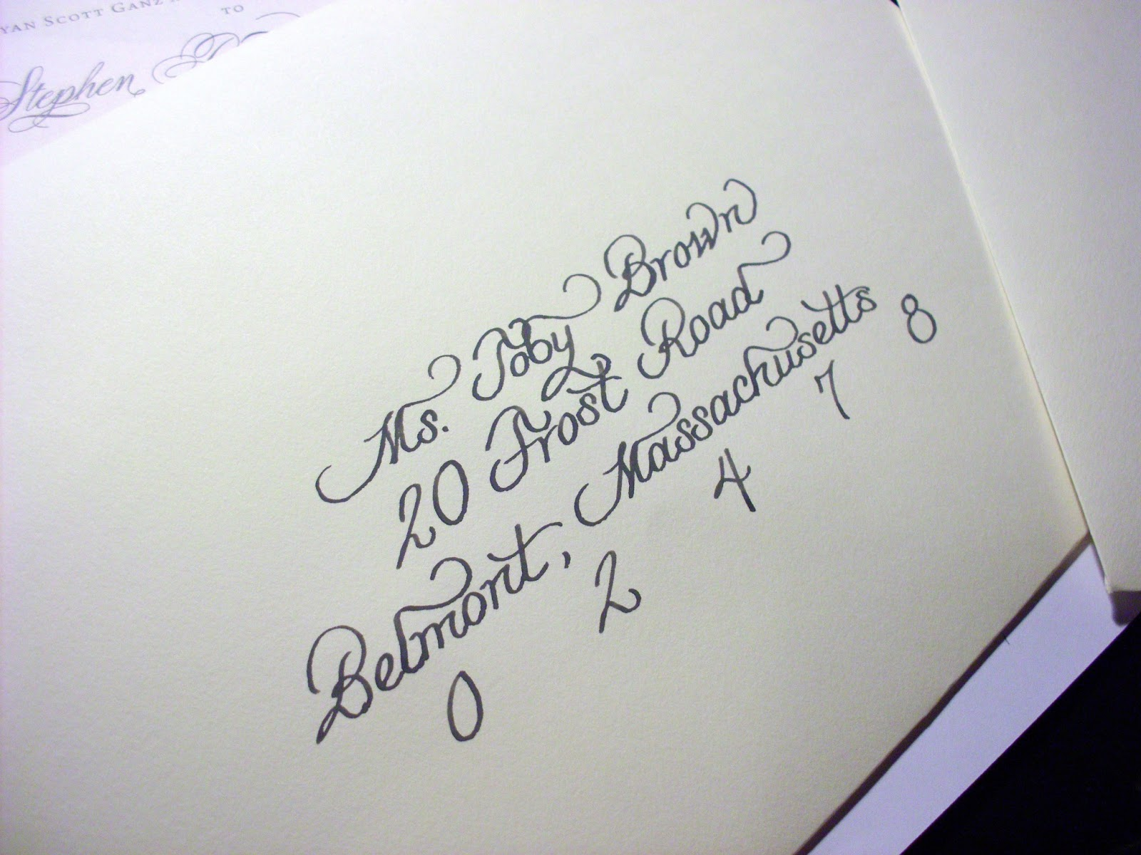 From the Ash Tree Meadow...: Charcoal Ink Calligraphy for Wedding ...
