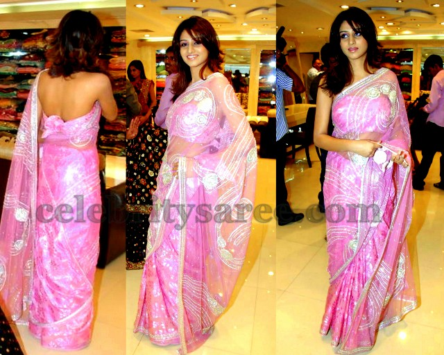 Shamili Wedding http://www.celebritysaree.com/2012/11/shamili-backless-blouse.html