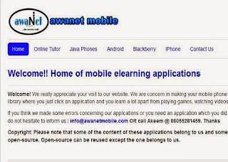 Awanet Website Image