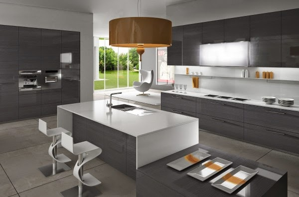 Cool modern minimalist kitchen designs and ideas for Cuisine moderne grise