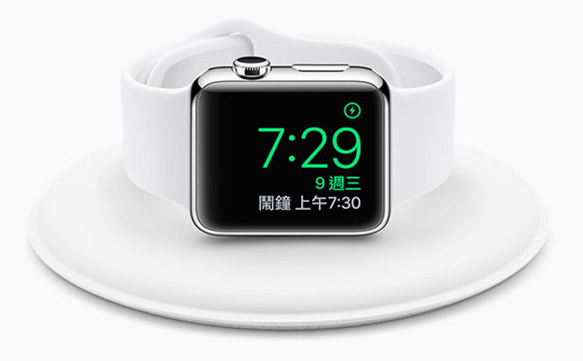 Apple Watch 官方磁性充電座:平放側立都好充