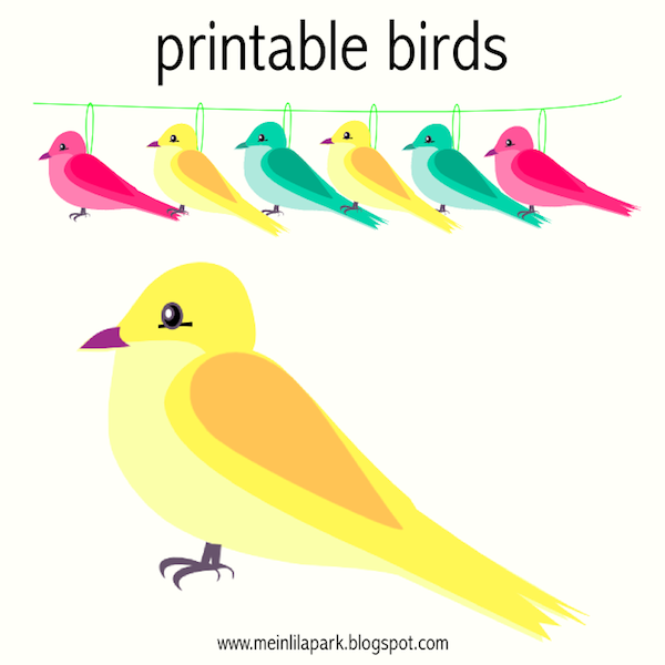 picture regarding Free Printable Bird Template known as Cost-free printable vibrant coloured birds and electronic borders