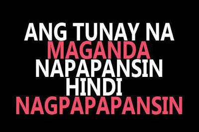 Ang Tunay na Maganda Quotes Image - Pinoy Trend
