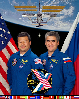 Leroy Chiao and Salizhan Sharipov Crew of ISS Expedition 10