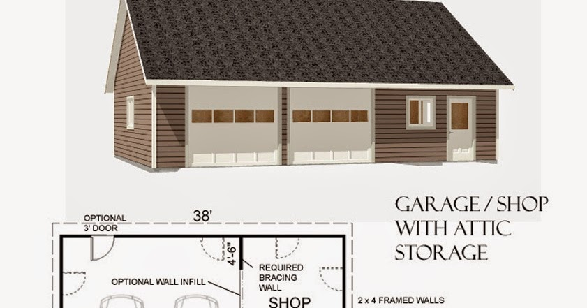 Garage plans blog behm design garage plan examples for 1 5 car garage plans