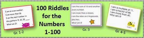 http://www.teacherspayteachers.com/Product/100-Riddles-for-the-Hundred-Chart-1st-and-2nd-Grade-191803