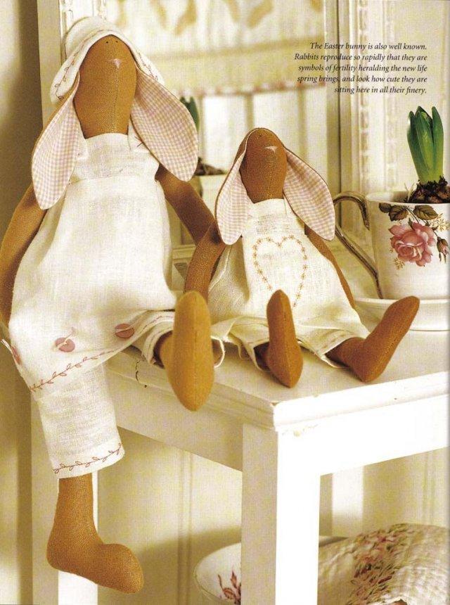 382Выкройка неразлучники куклы