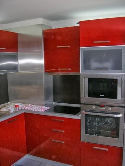Кухня МДФ гланц червена 2