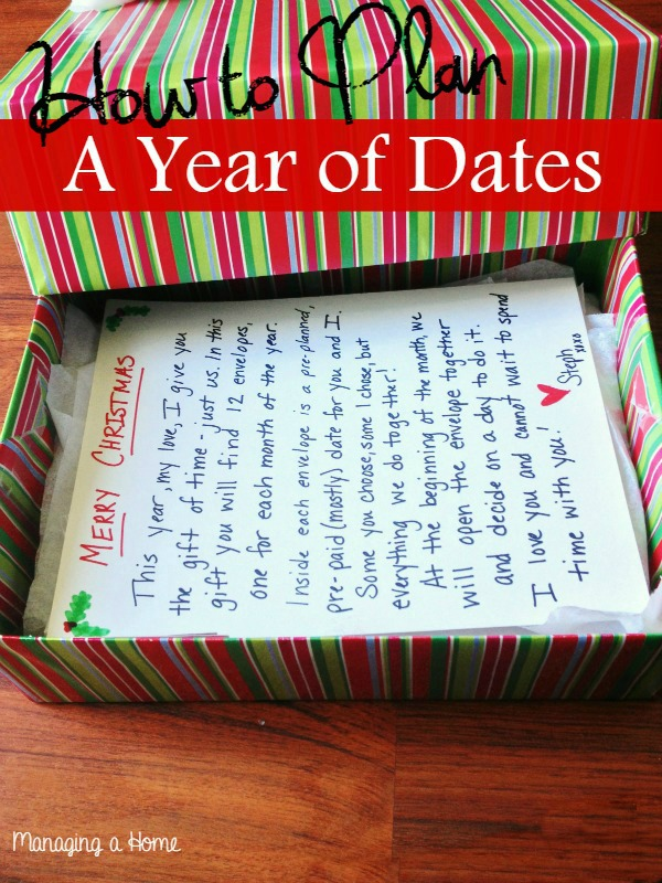 12 Months of Dates Christmas Gift Ideas - Clean and Scentsible