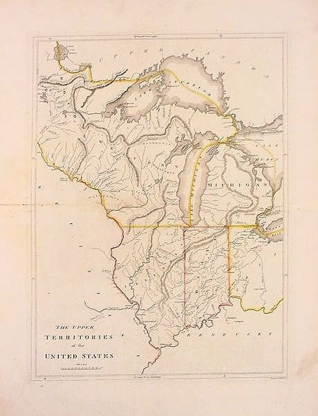 The Upper Territories Of The United States From Carey S General Atlas Mathew Carey 1814