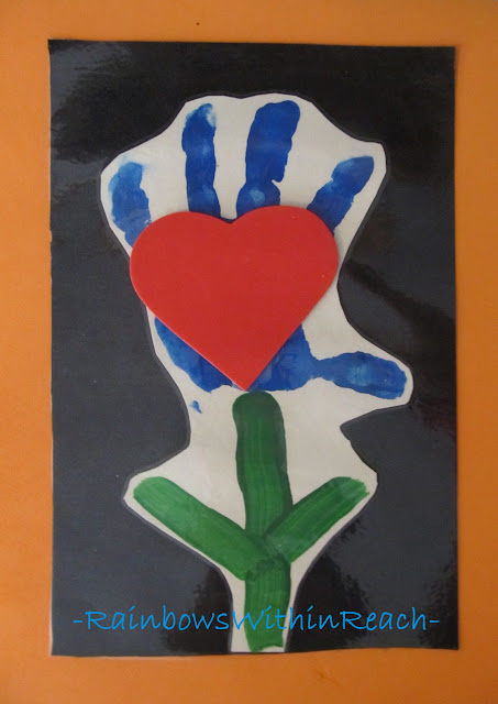 photo of: Handprint for Mother's Day, Preschool handprint painting,