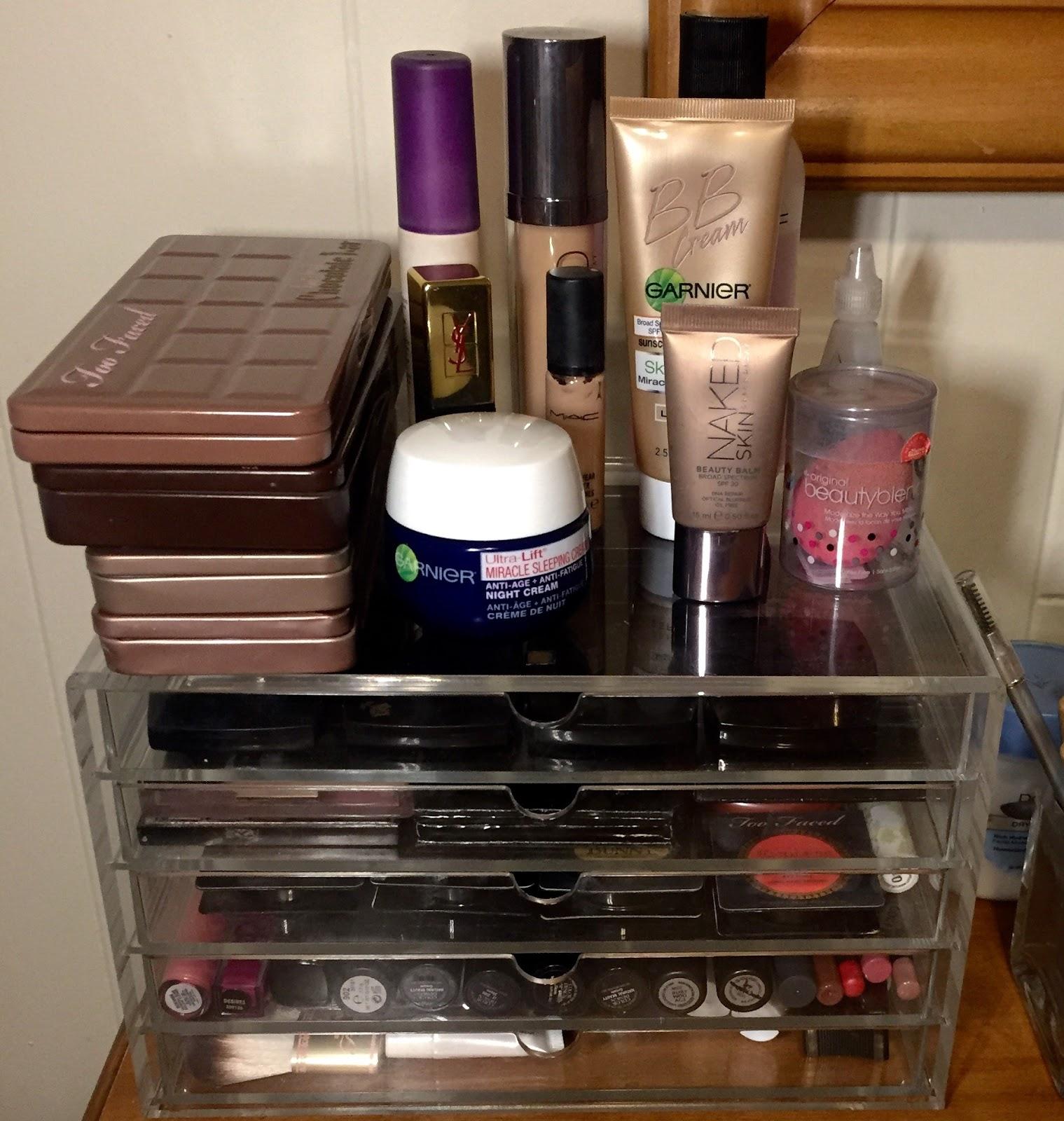 Get Organized Makeup Storage