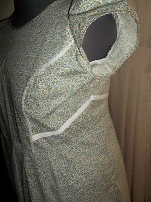 Simplicity 1797 Princess seam dress finished side view