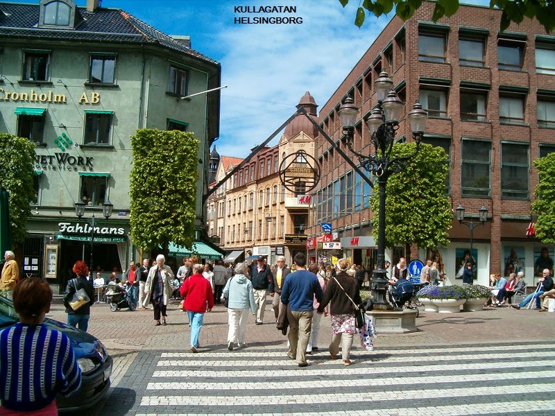 Kullagatan - Market of Helsingborg, Sweden
