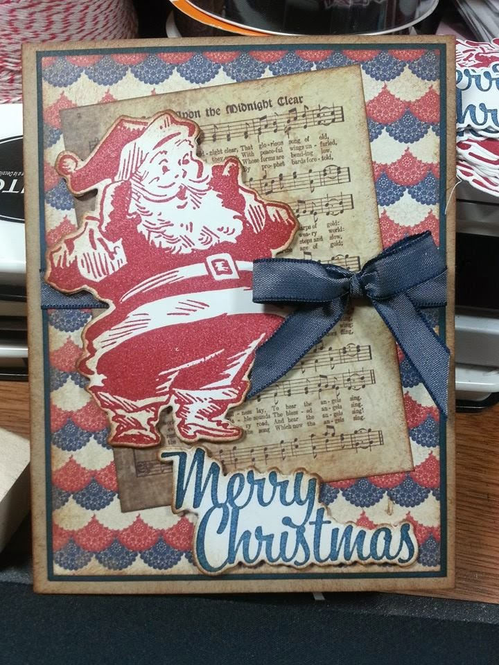airbornewife\'s stamping spot: more Patriotic Santa Christmas Cards