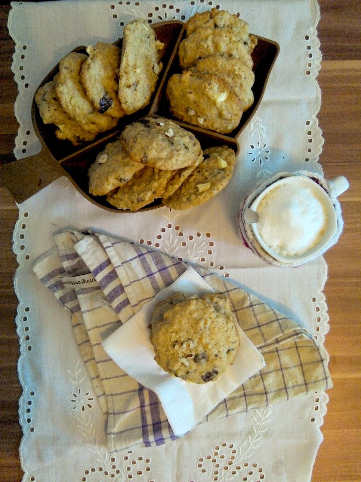 Čokoládovo-orieškové cookies s