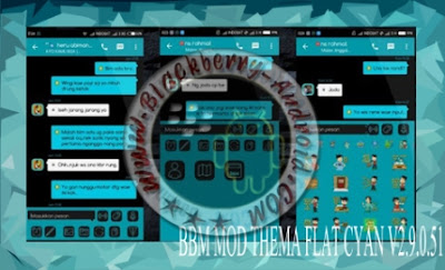 Download BBM Mod Cyan Flat Themes New Versi 2.9.0.51 Full Feature