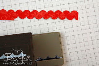 How to make Ric Rac with a Scallop Edge Punch