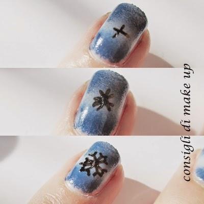 nail art fiocco di neve