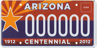 Arizona Centenial Tag
