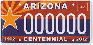 Arizona Centenial Tag