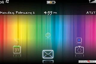 1267689798 Rainbow for BlackBerry Bold 9000 Themes
