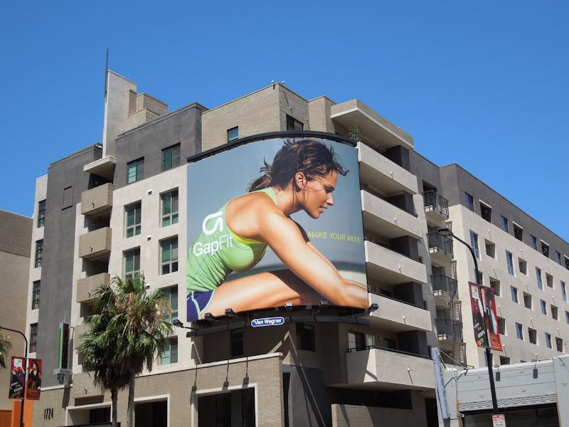 Gap Fit billboard Hollywood