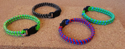 Very easy woven bracelets made with the EZ Jig Tool.