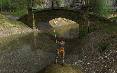 Lord of the Rings Online - хуманша увлекается рыбалкой