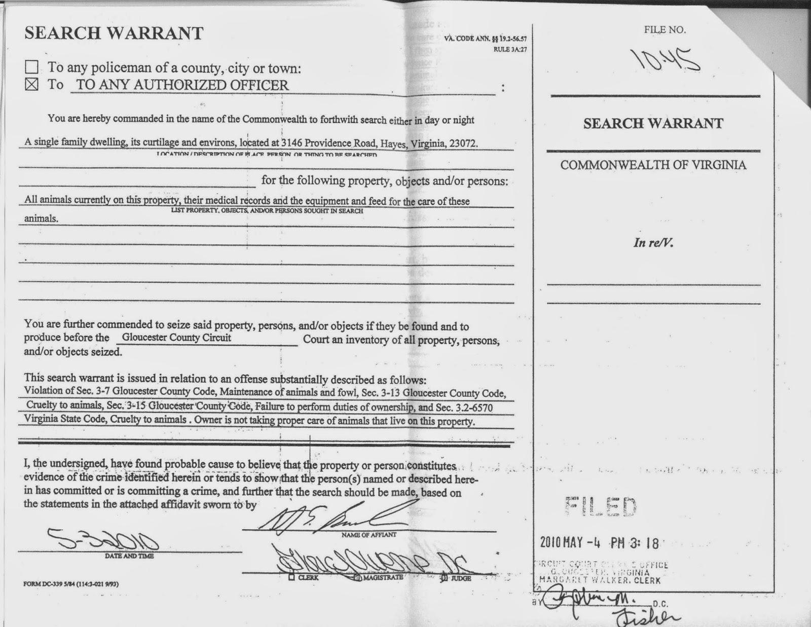 Search Warrant Format Heartpulsar