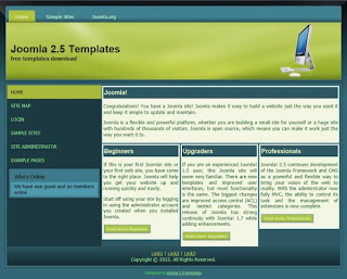 business joomla 2.5 templates green