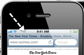 iPhone Tip – Scroll to the Top