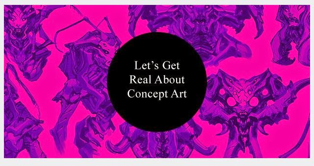 http://howtonotsuckatgamedesign.com/2014/02/lets-get-real-concept-art/