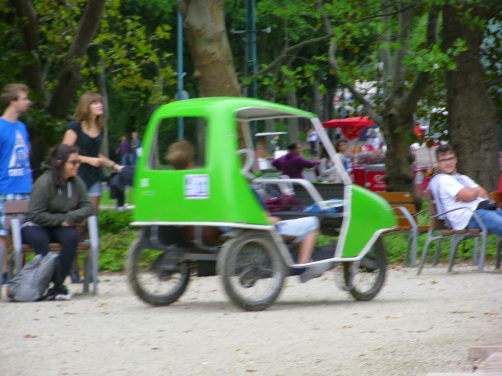Alugar carrinhos na Margaret Island