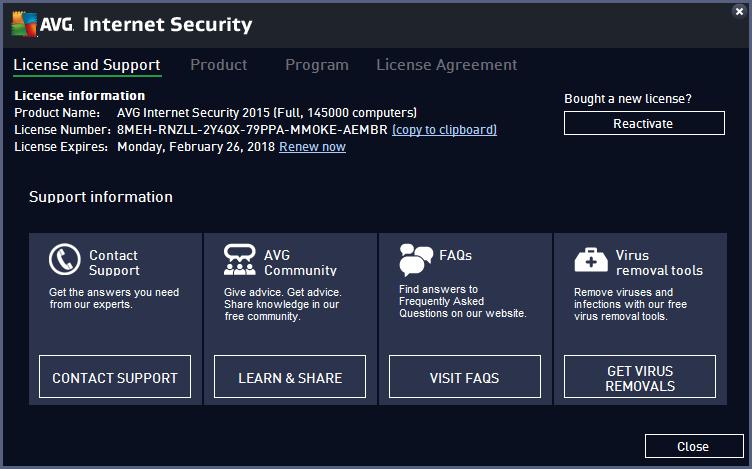 AVG 2015 registered key