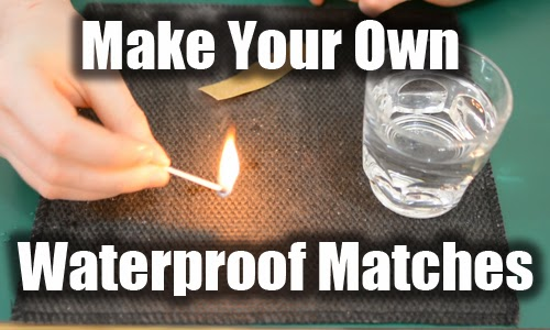 Make your own waterproof matches