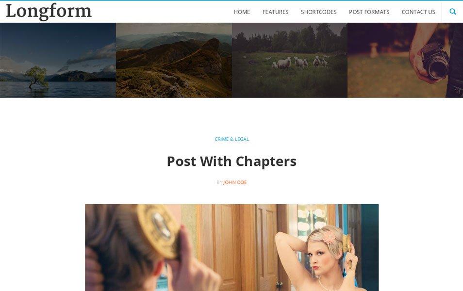 Longform Responsive WordPress Theme