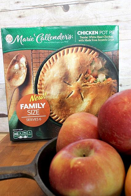 Skillet Brown Sugar & Cinnamon Apples With Marie Callender's Pot Pie