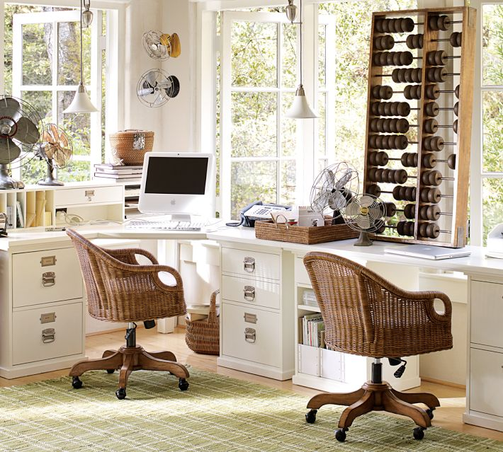 My passion for decor my pottery barn desk hack - Pottery barn office desk ...